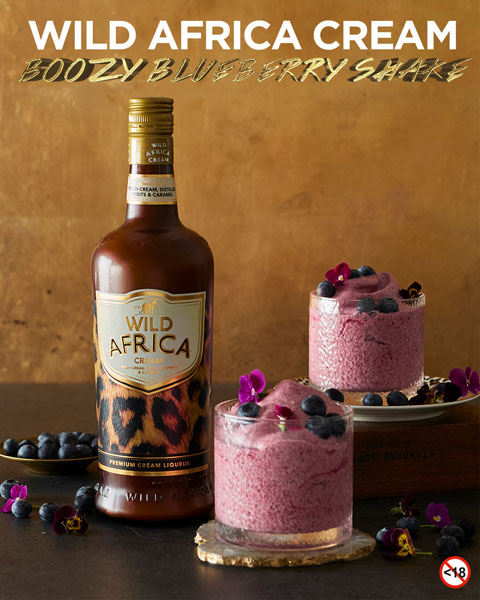 WILD AFRICA CREAM <BR> BOOZY BLUEBERRY SHAKE
