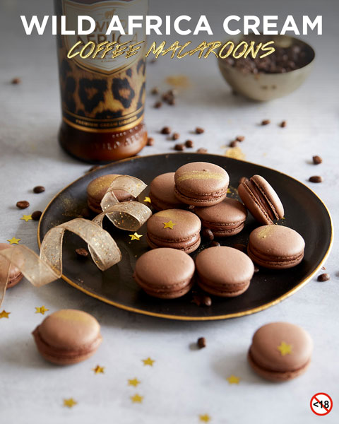 WILD AFRICA CREAM <BR> COFFEE MACAROONS