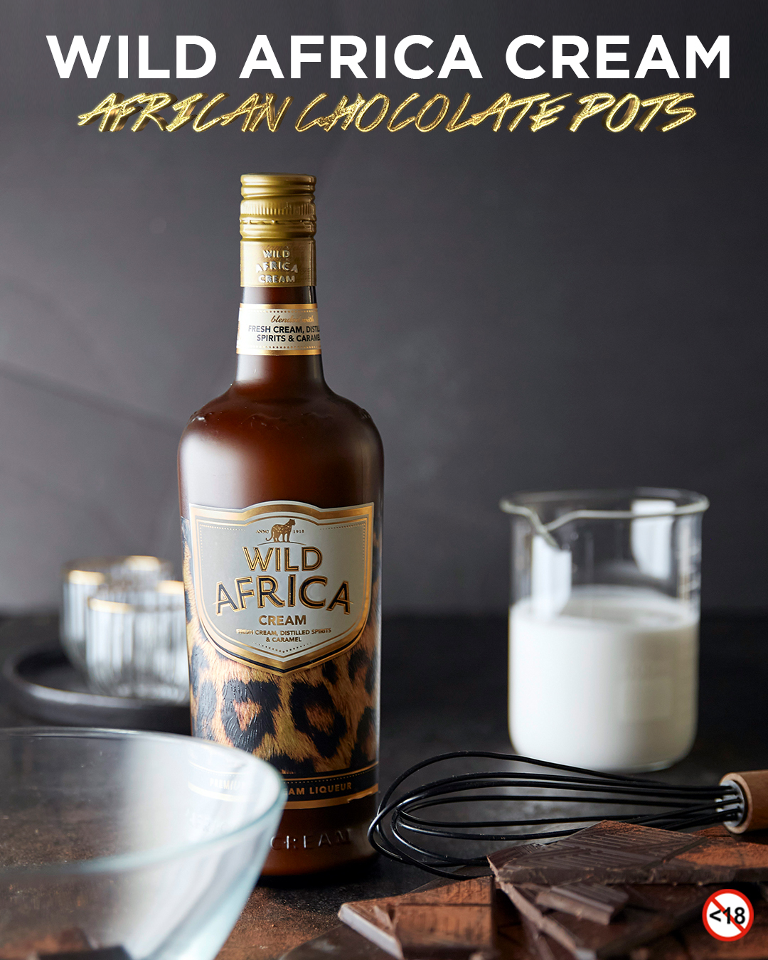 WILD AFRICA CREAM <BR>AFRICAN CHOCOLATE POTS