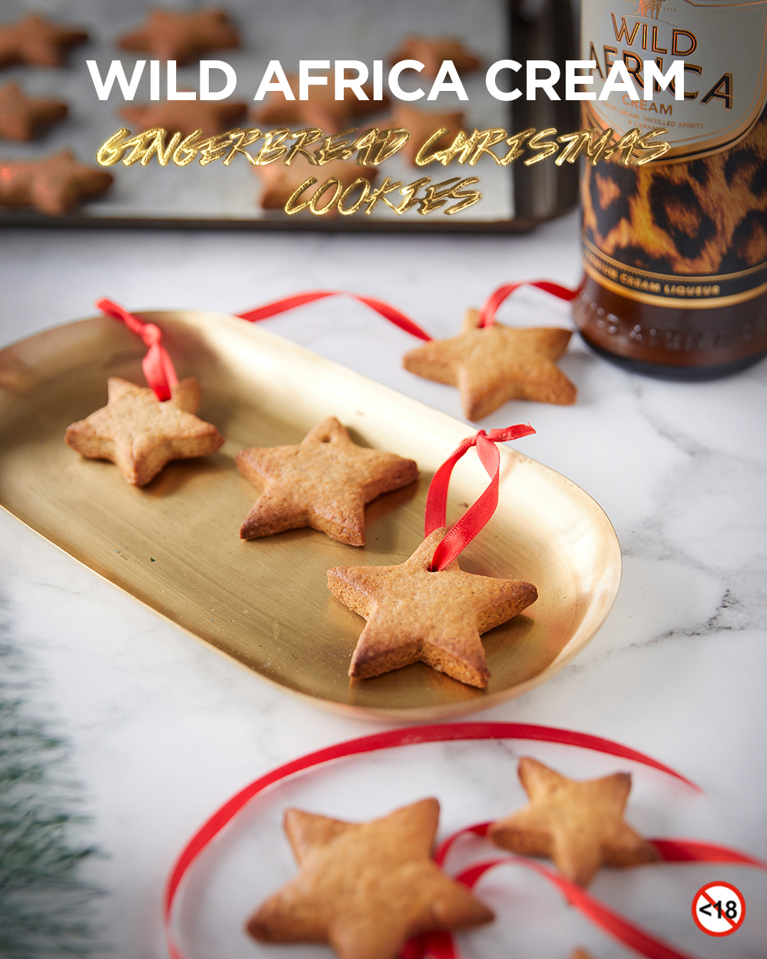 WILD AFRICA CREAM <BR>GINGERBREAD CHRISTMAS COOKIES